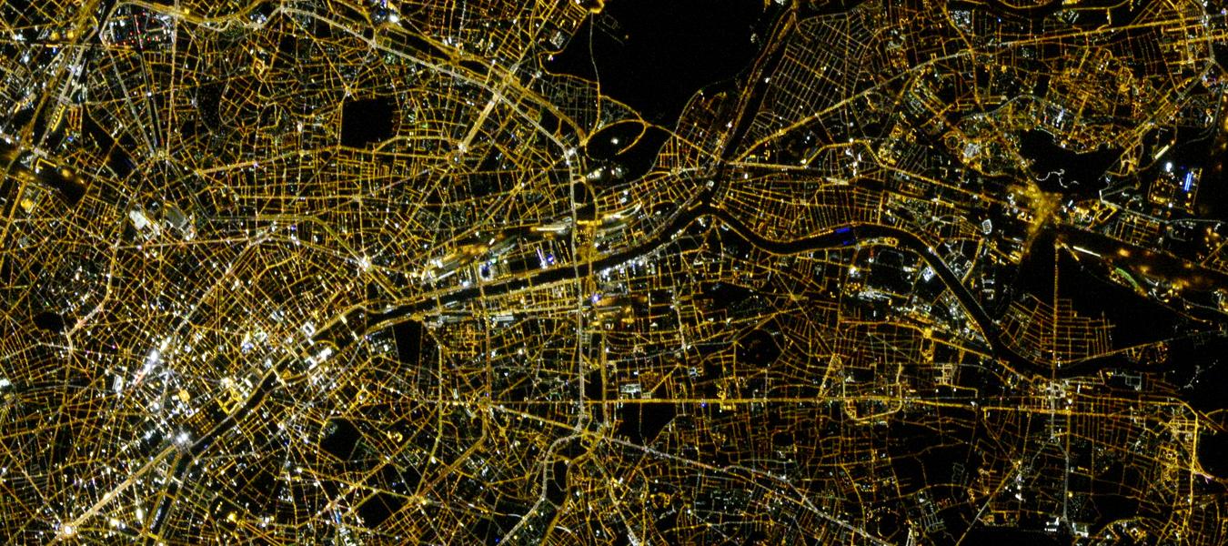 TOP 10 de l'éclairage des villes françaises vues de l'espace par Thomas Pesquet