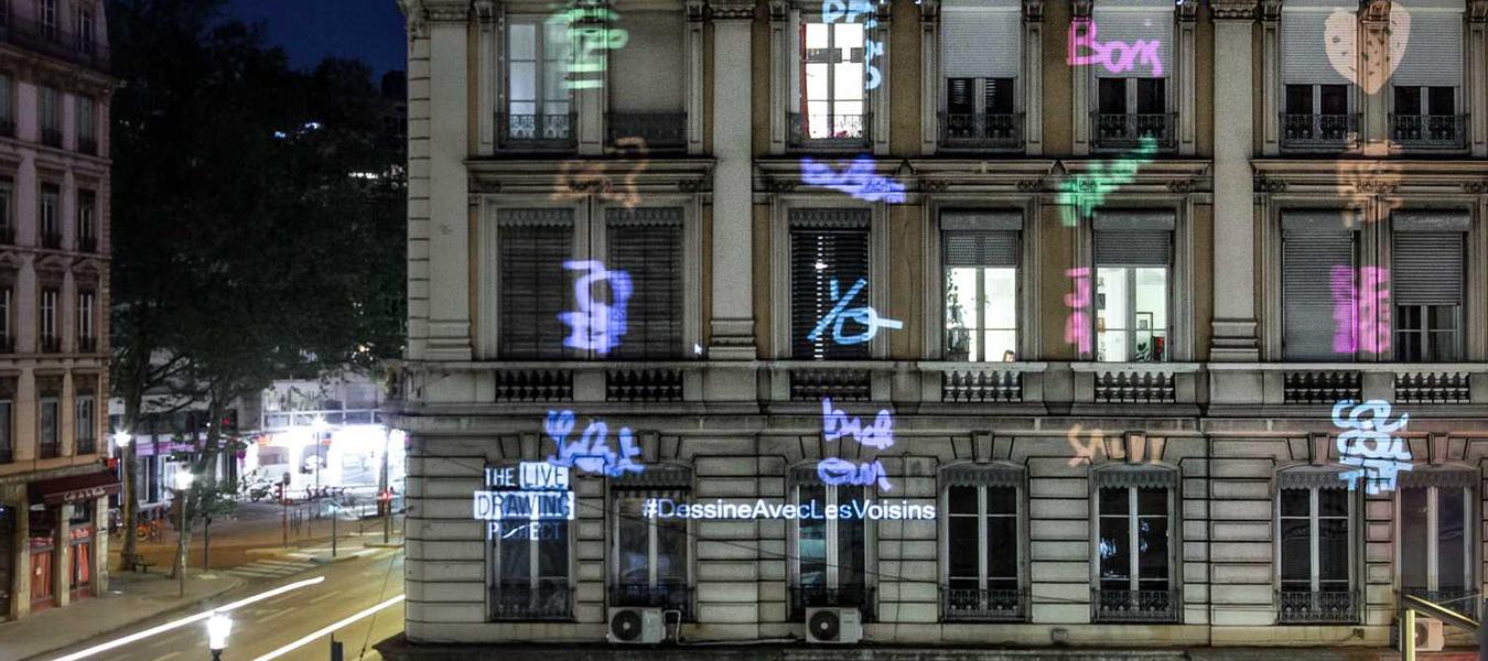 Confinement : The Live Drawing Project pour dessiner en lumière avec ses voisins