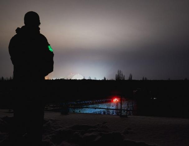 éclairage de Pripiat et Tchernobyl en Ukraine